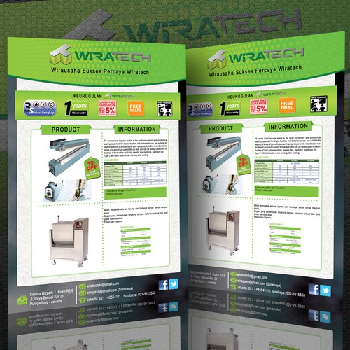 Design an Rewarding Product Flyer for WIRATECH