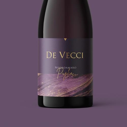 De Vecci wine label
