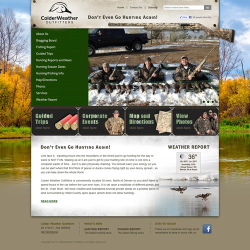 Colder Weather Outfitters Webside Design