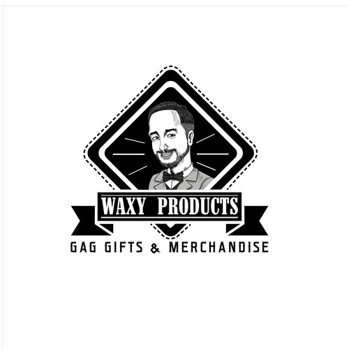 logo incorporating a caricature