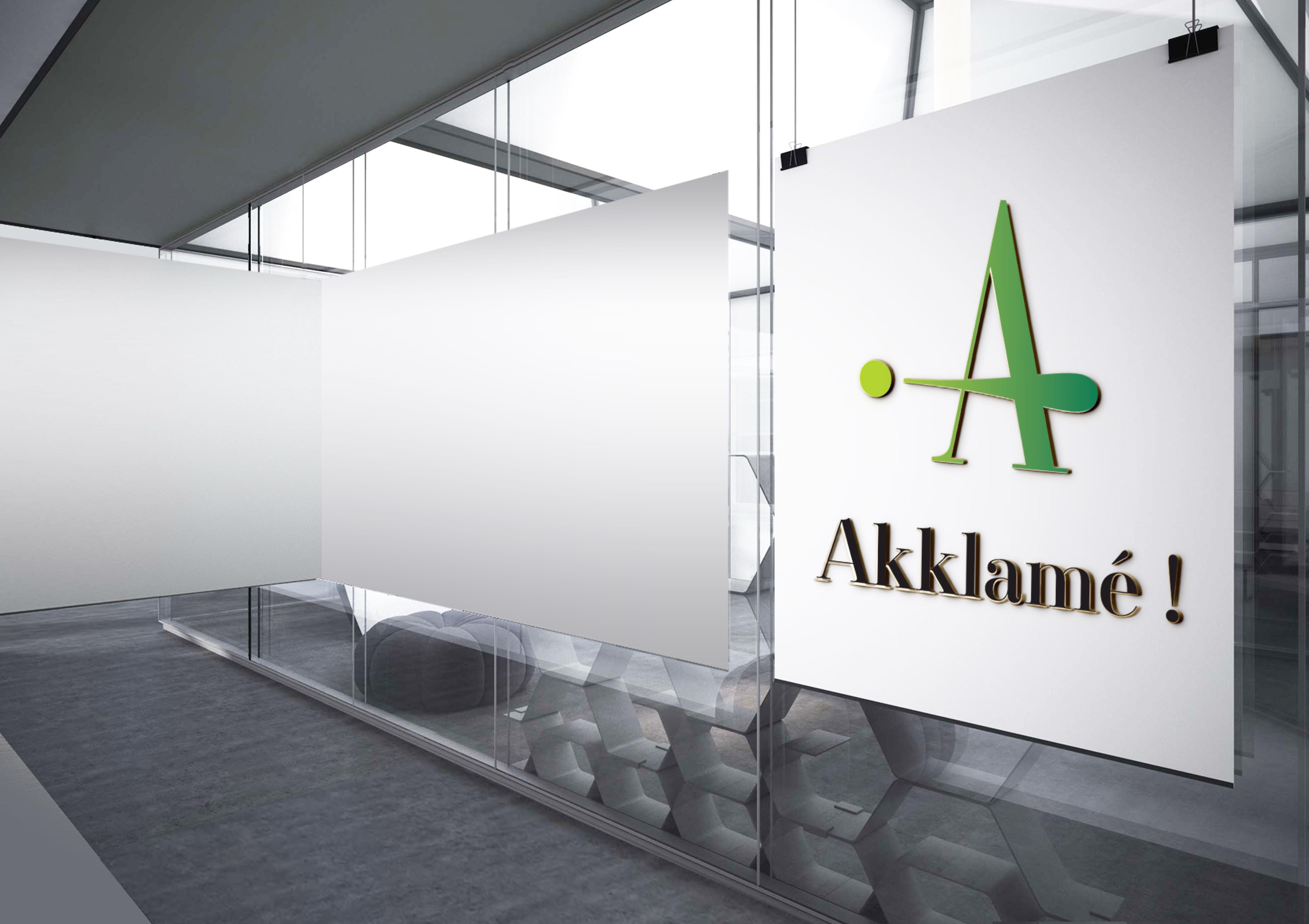 Akklamé ! : Corporate logo for photo background