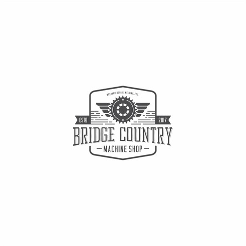 Logo Concept for Bridge Contry Machine Shop