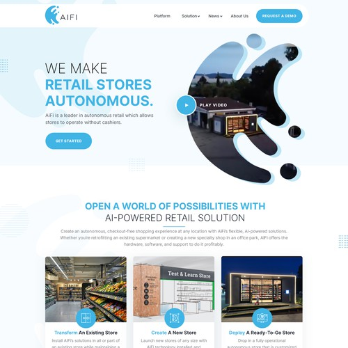 AiFi Website Redesign - Design/Layout Only