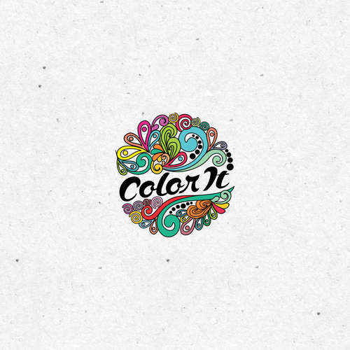 Colorful Zentangle Logo for Color It