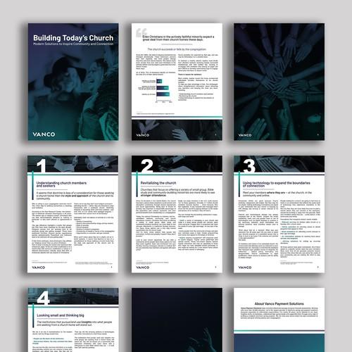 E-book template design
