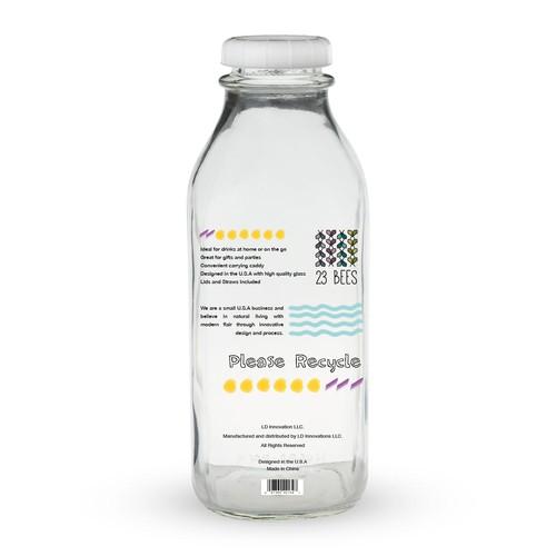 back of the milk bottle