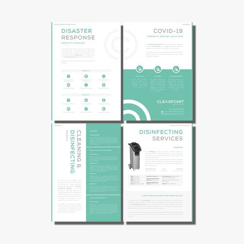 Modern and clean Brochure for Cleaning Company