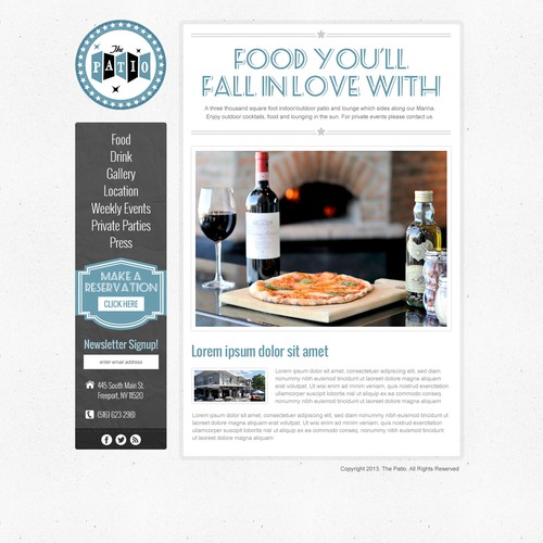 website design for The Patio at The Freeport Inn and Marina