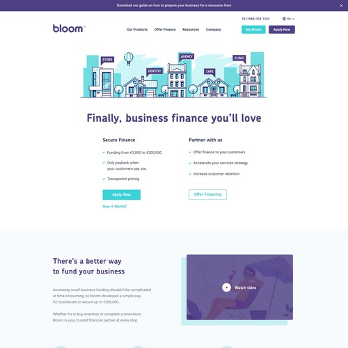 Webdesign for Bloom