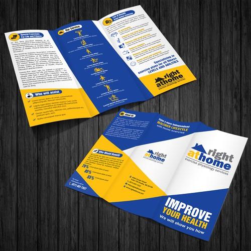 tri fold brochur