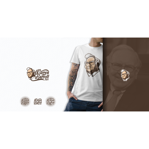 Create a logo that includes a drawing of Warren Buffett!