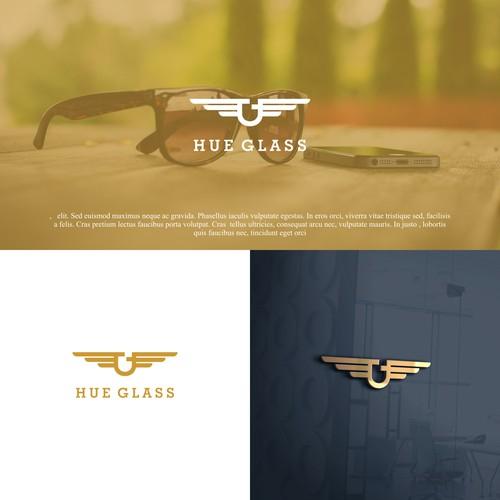 Bold, masculine logo for sunglass company