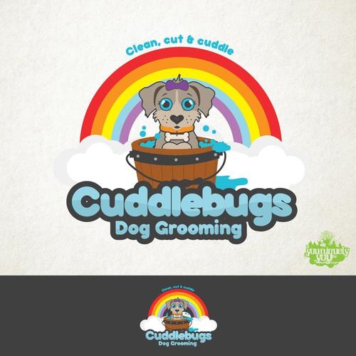 Cuddlebugs Dog Grooming logo concept