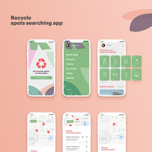 Recycle searching app concept