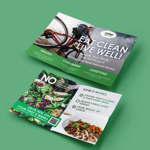 Create a Simple Handout Flyer for Premium Pre-Packaged Paleo Food