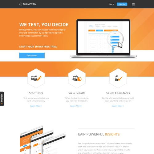 Create easy to use, eye catching flat design for our Saas platform.