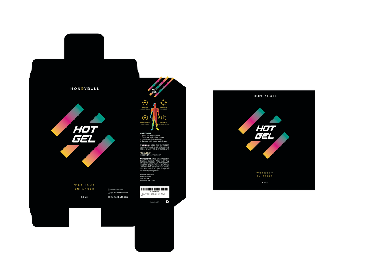 "Additional work on packaging design for ""HOT GEL"""
