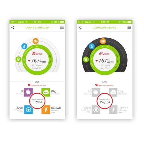 Design a cool app for residential demand response (energy) - iphone