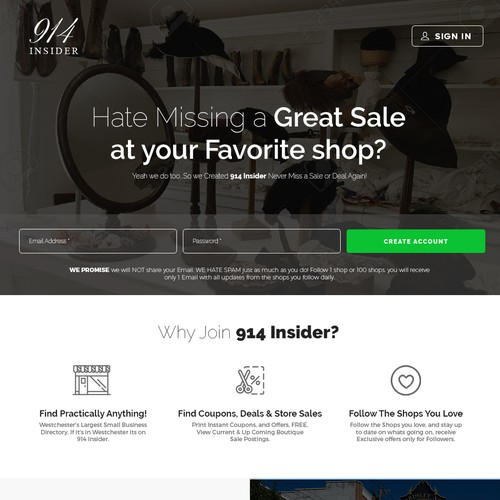 Landing page for - 914 Insider