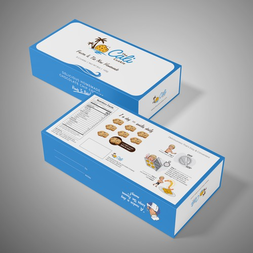 Packaging design for The Cali Cookie
