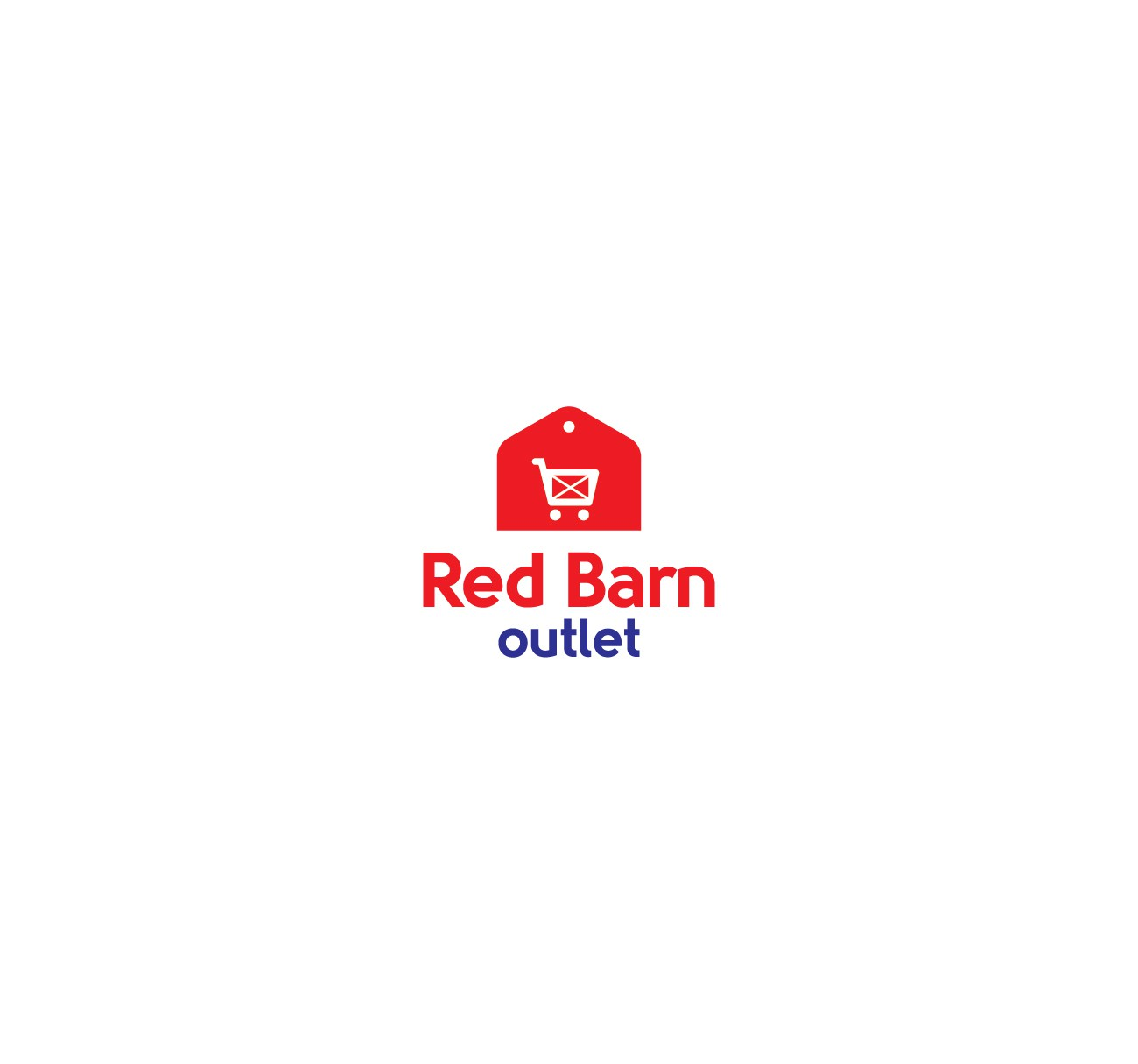 Red Barn Outlet logo & Identity pack