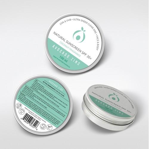 Avocado Zinc a label design
