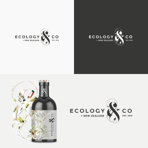 Elegant whiskey/rum logo concept