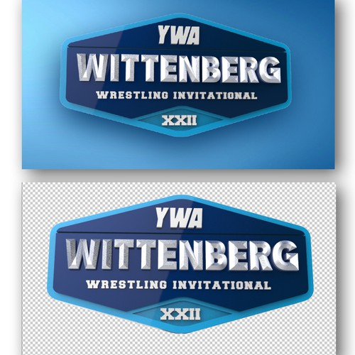 Video transition of Wittenberg wrestling tournament logo