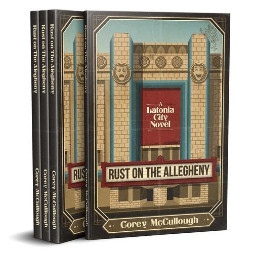 Illustrative Art Deco Book Cover