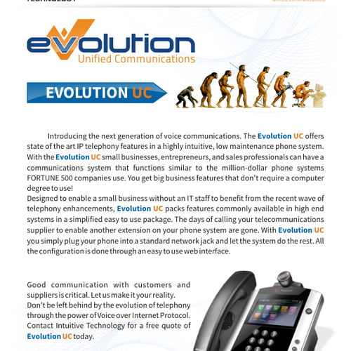 Product Brochure For Phone System Product