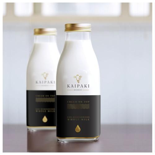 KAIPAKI Premium Milk Package Concept
