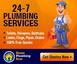 Create a cool banner ad for a plumbing company