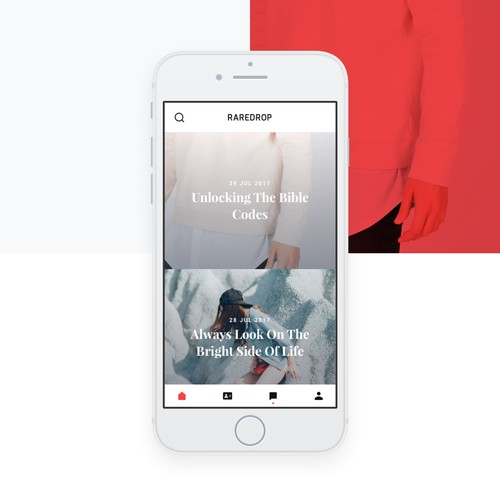 A stylish minimalistic design for pre-ordering app