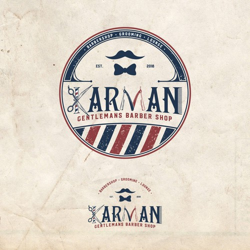 Vintage Barbershop Logo for KARMAN