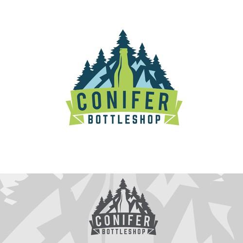 Logo concept for Conifer Bottleshop