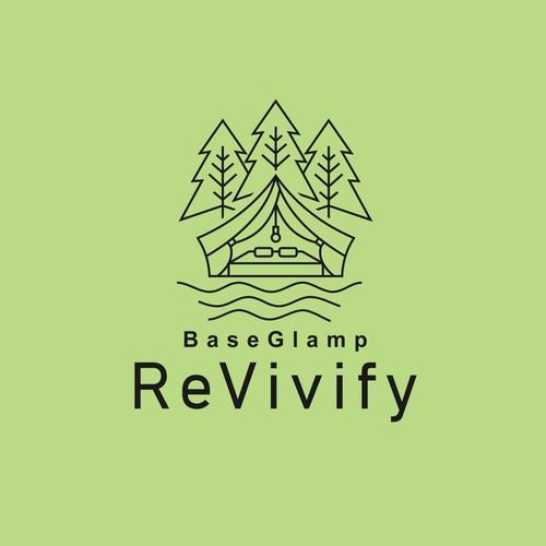 """Logo Outdoor """"base glamp revivify"""""""