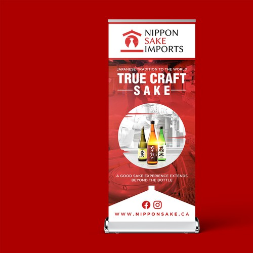 Unique Marketing Stand Design concept of Nippon Sake Imports