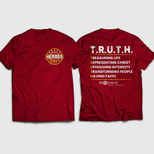 T-shirt Design of heroes for TRUTH
