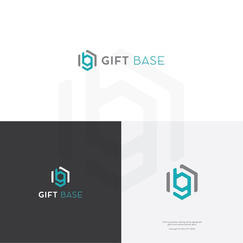 Logo Concept for Personalize Gifts called Gift Base