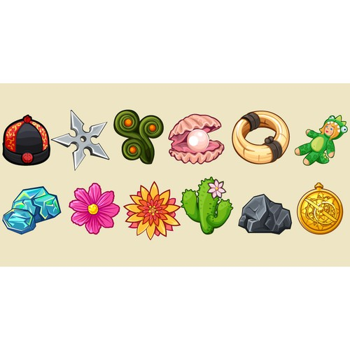 New game item designs for iPhone app