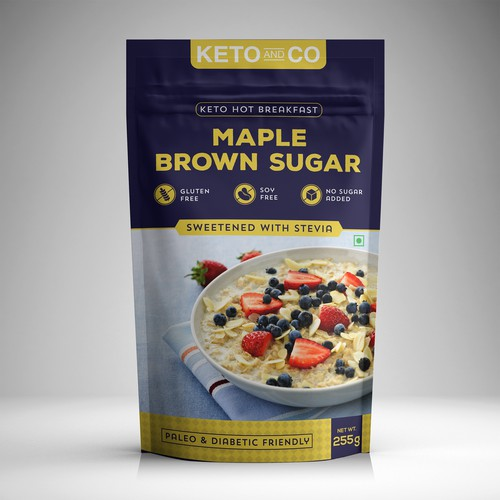 Retail Packaging for Low Carb Food Brand