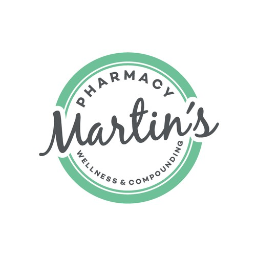 "Design a ""simple/crisp/retro/modern"" logo for wellness & compounding pharmacy in Austin, Tx."