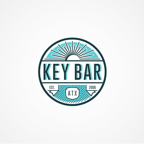 Vintage Yet Modern Style Bar Logo