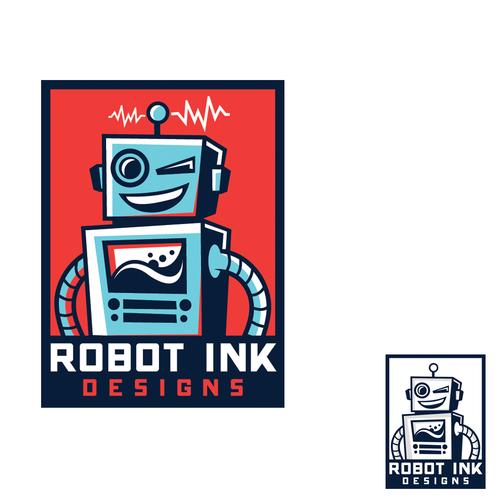 Bold logo for Robot Ink