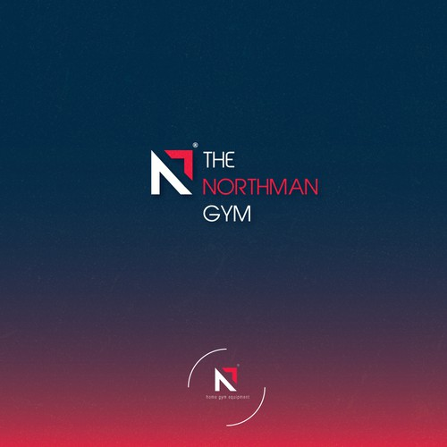 Bold logo concept for a gym