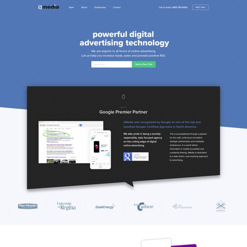 High Conversion webdesign for a Digital Tech Company