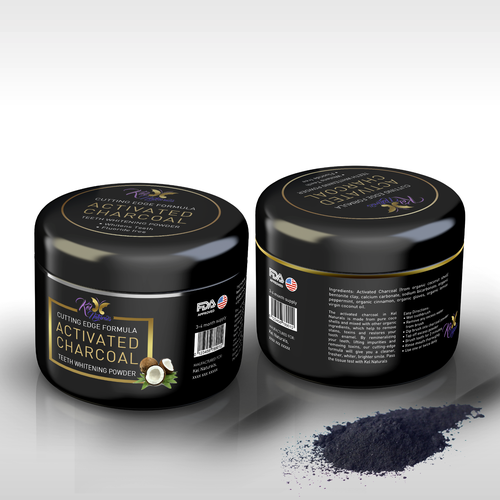 Activated Charcoal Powder for teeth whitening packaging