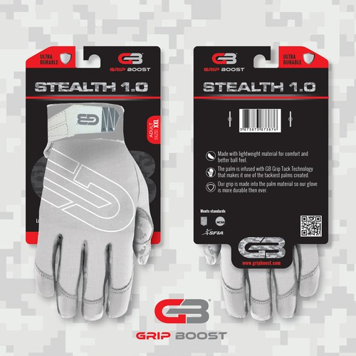 Glove Packaging for Store Hooks j-hook