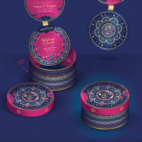 Wedding Indian Invitation Box