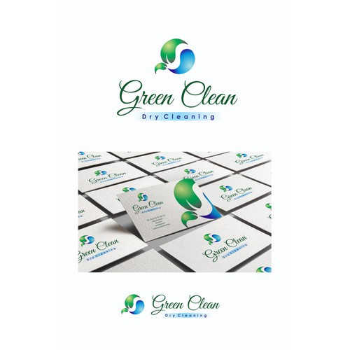 Create a catchy but elegant logo for a Green Dry Cleaners